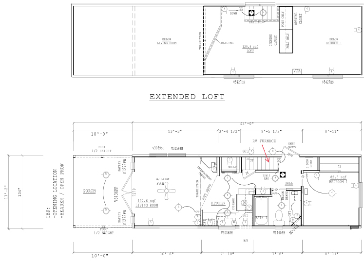 Floor Plan for Dauntless - Fort Bragg California